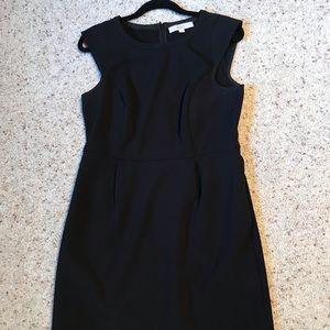 Loft black dress with cap sleeve